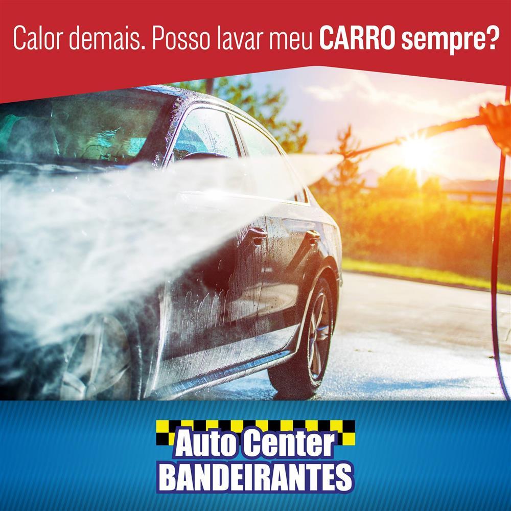 Calor demais. Posso lavar meu carro sempre ?